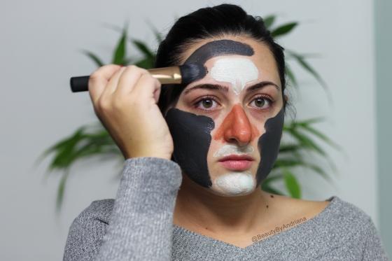applying-loreal-detox-brighten-clay-mask-3